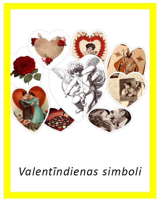 Valentīndienas simboli – 4 dažādi fonti par 1 cenu
