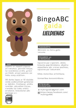 BingoABC gaida Lieldienas