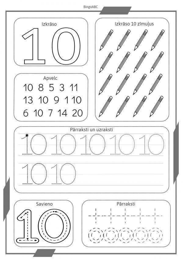 BingoABC mācās rakstīt ciparus