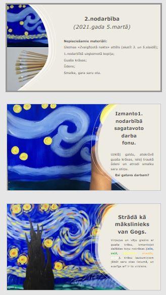 Vizuālā māksla 2.klasei – Vinsents van Gogs, gleznas kopija.