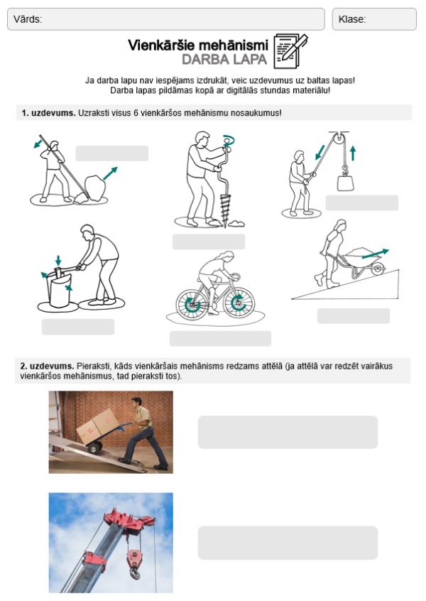 Vienkāršie mehānismi (4.- 6. kl.)