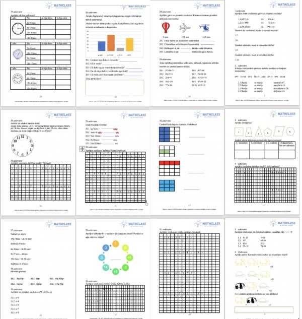 Darba lapas matemātikā 3. klasei!