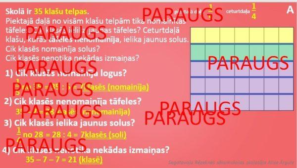 Daļas aprēķināšana no skaitļa _TU 4.klase. MATEMĀTIKA