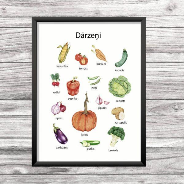 Dārzeņu plakāts