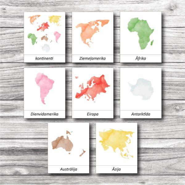 Kontinentu kartītes