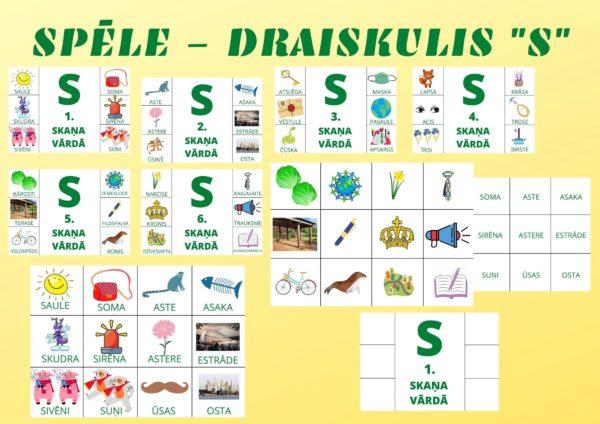 """Spēle – Draiskulis """"S"""""""