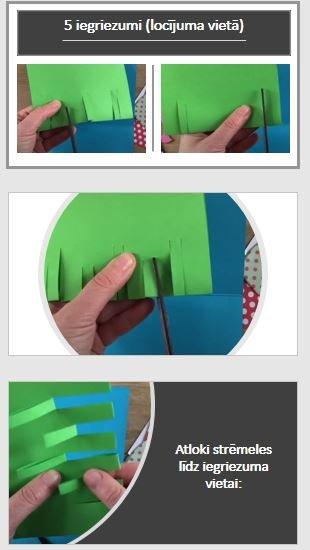 Vizuālā māksla 2.klasei – 3D ziedu kartīte.