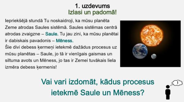 Saules un Mēness ietekme uz Zemes procesiem (4.- 5. kl.)
