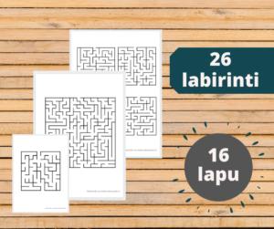 Labirinti (26 dažādas sarežģītības)