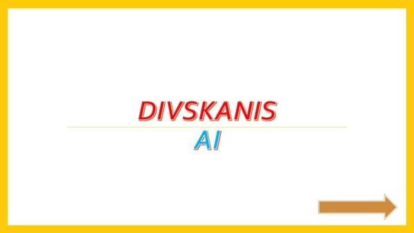 Divskanis AI – Interaktīvais mācību līdzeklis