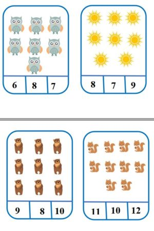 Skaitļu kartītes (1-20)