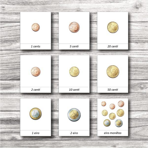 Eiro monētu kartītes