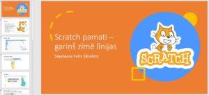 Scratch pamati – gariņš zīmē līnijas