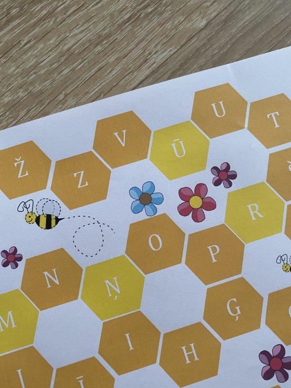 Galda spēle – bites alfabēts