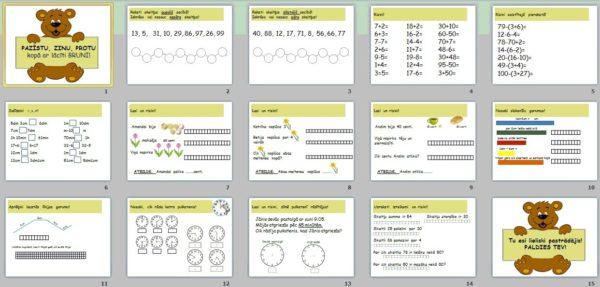 Noslēguma PD + PDF materiāls matemātikā 1.klasei