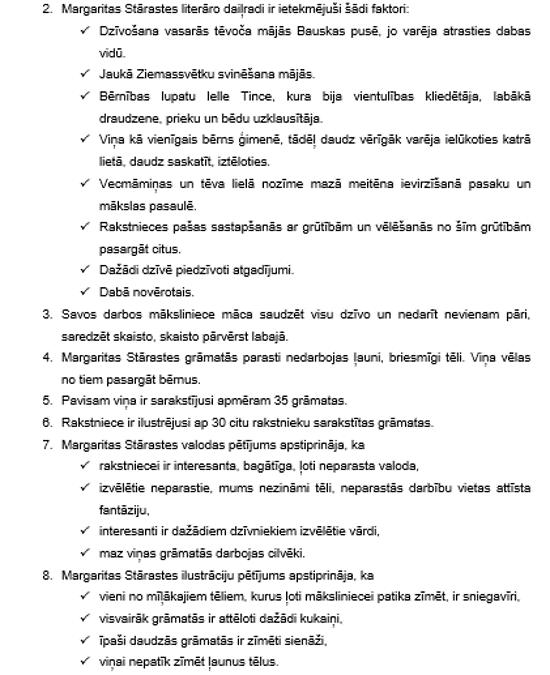 Margaritas Stārastes valodas pētījums