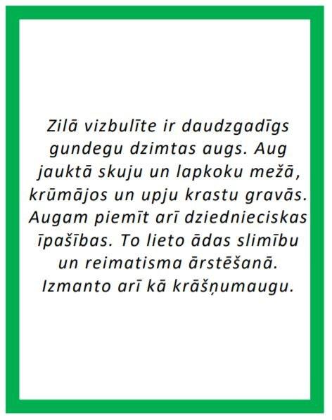 Indīgie augi Latvijā I – kartītes ar aprakstiem