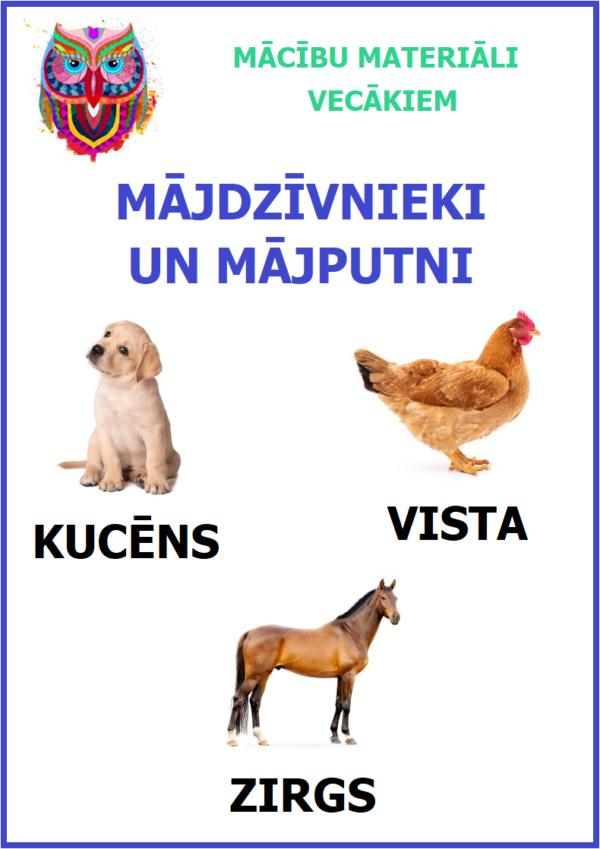 Mājdzīvnieki, mājputni