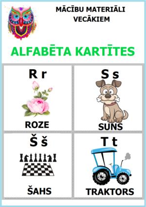 Alfabētu burtu kartītes