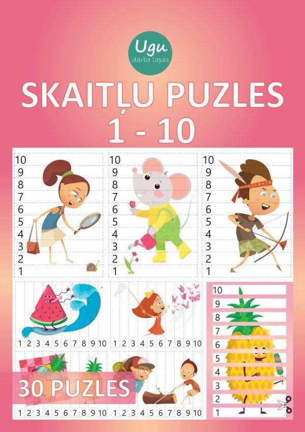 """SKAITĻU PUZLES 1-10"", 30 puzles"