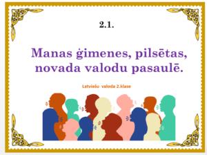 2.1. Manas ģimenes, pilsētas, novada valodu pasaulē.