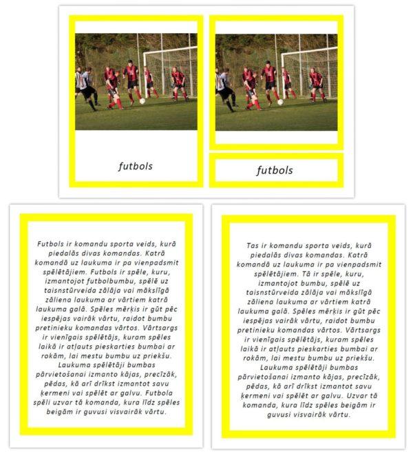 Komplekts – Bumbu sporta veidi