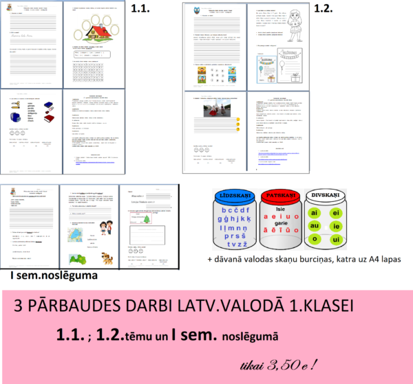 KOMPLEKTS_Pārb.d. 1.KLASEI I sem. (3 gab.)