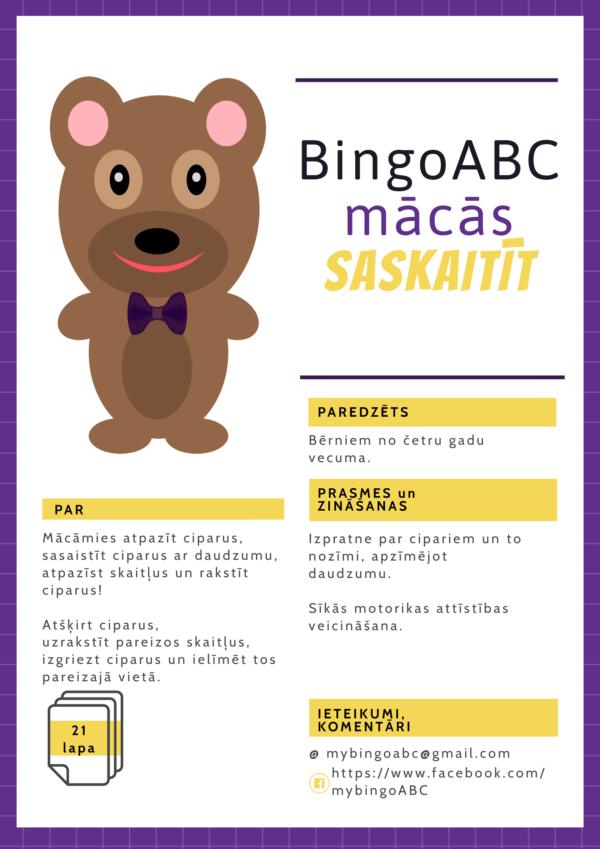 BingoABC mācās saskaitīt