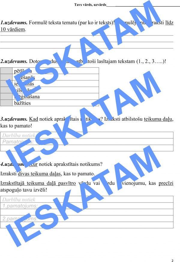 Skolēna lasītprasmes diagnosticējošais darbs_6.klase