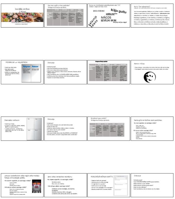 Prezentācija Pienākumi Vaļasprieki Mērķi (7 st.) 2.klase