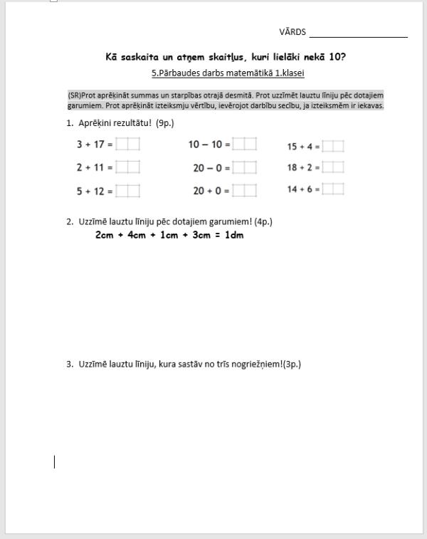 Kā saskaita un atņem skaitļus, kuri lielāki nekā 10?