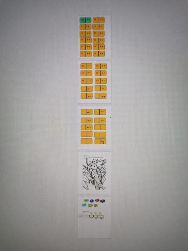 Reizināšanas/dalīšanas domino (3.klase)