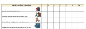 Vecāku labas uzvedības kalendārs