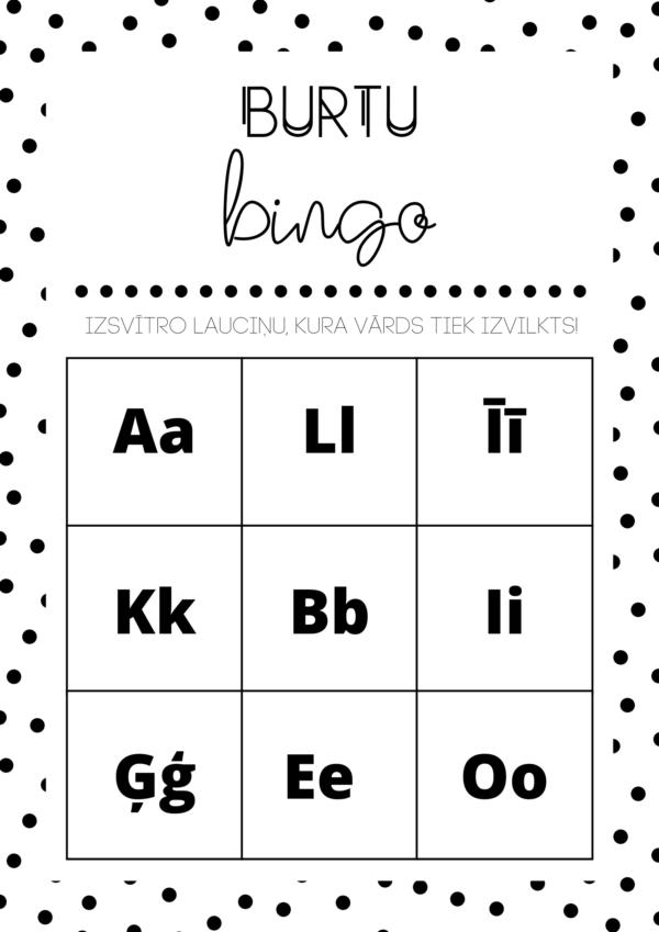 BURTU BINGO!