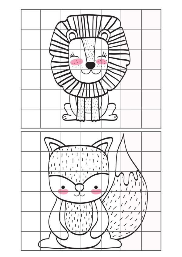 Mācāmies proporcijas- pārzīmēšanas režģis maziem zīmētājiem!