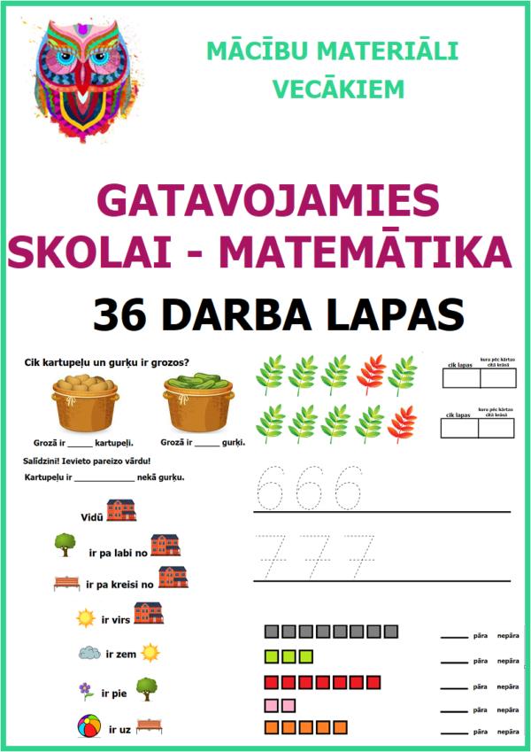 GATAVOJAMIES SKOLAI – MATEMĀTIKA