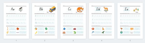 Mācies rakstīt ar angļu alfabēta darba lapām!