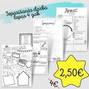 4 darba lapas – tikai 2,50€!