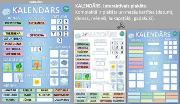 KALENDĀRS. Interaktīvais plakāts
