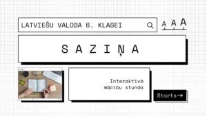 Latviešu valoda 6.klasei- SAZIŅA. Prezentācija+darba lapas!