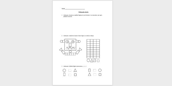 Pārbaudes darbs matemātika 1.klase 1.1 tēma
