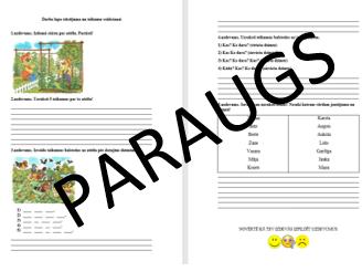 Darba lapa. Stāstījuma un teikumu veidošana.