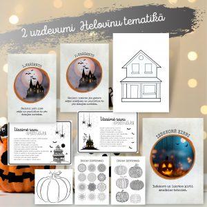 Spoku mājas zīmēšana un ķirbja dekorēšana (Helovīni)