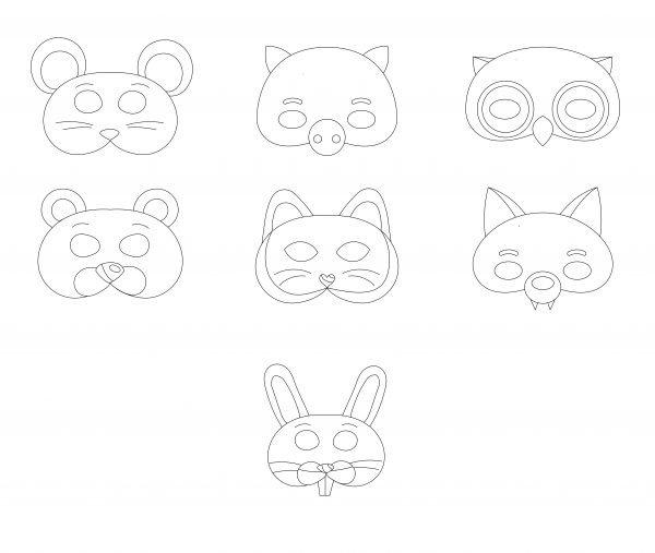 Mārtiņdienas krāsainās maskas + krāsojāmās maskas