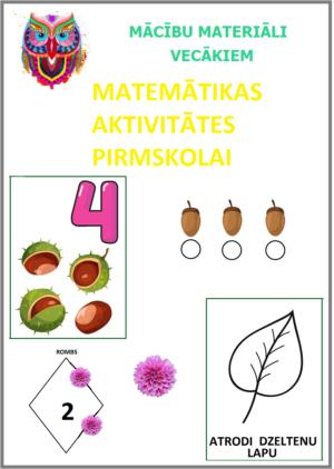 MATEMĀTIKAS AKTIVITĀTES PIRMSSKOLAI